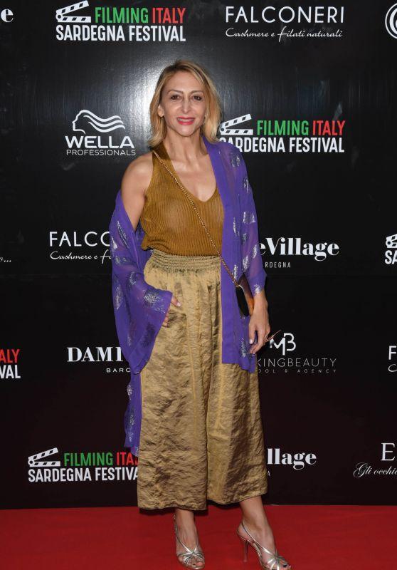 Paola Minaccioni – Filming Italy Sardegna Festival Dinner in Cagliari 06/15/2018