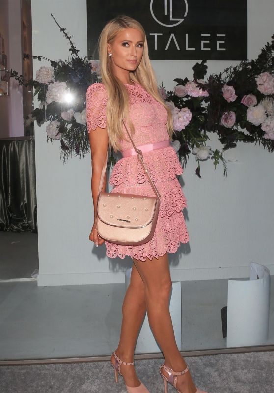 Paris Hilton in Pink - Opening of TOTALEE Hair Salon in Beverly Hills