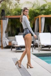 Rachel McCord - Posing for a Fashionable Poolside Photoshoot in Hollywood