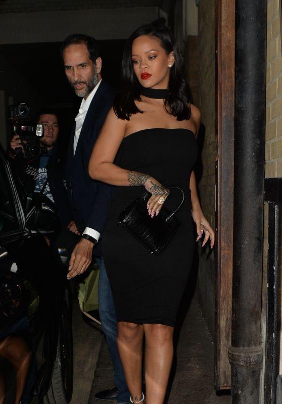 Rihanna - Leaving Peyote Club in London 06/23/2018