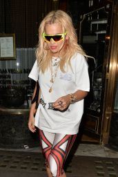 Rita Ora - Leaving Mr Chow Restaurant in London 06/22/2018
