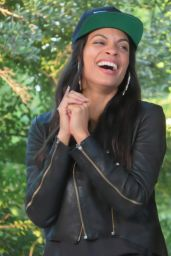 Rosario Dawson - Rock Rubber 45s Film Premiere in Central Park NY