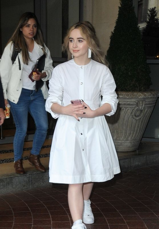 Sabrina Carpenter - Leaving the Soho Hotel in London 06/12/2018