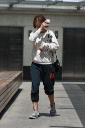 Sarah Paulson Wears Free City Sweatpants - Leaves the Gym in LA 06/21/2018
