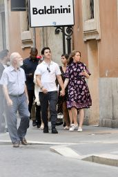 Selena Gomez in Rome with Andrea Iervolino, David Henri and Maria Cahill 06/21/2018