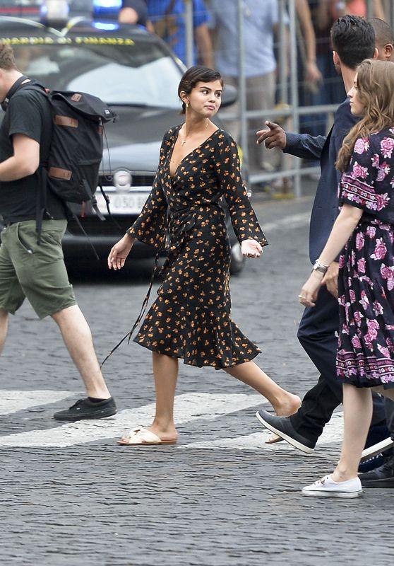 Selena Gomez in Rome with Andrea Iervolino, David Henri and Maria Cahill 06/21/2018