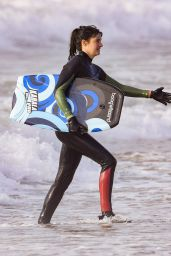 "Shailene Woodley - Goes Boogie Boarding for ""Big Little Lies"" in Monterey 06/12/2018"