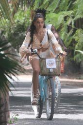 Shanina Shaik and DJ Ruckus - Sights by Bike in Tulum