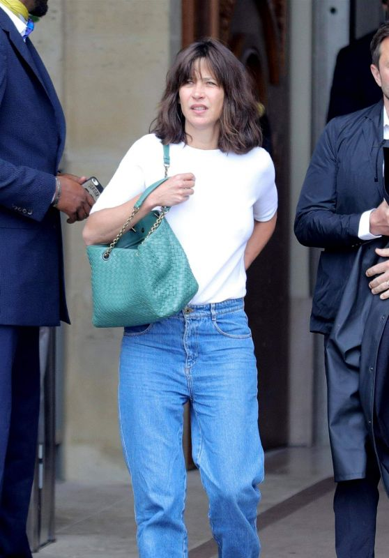Sophie Marceau - Leaving the Crillon Hotel in Paris 06/11/2018