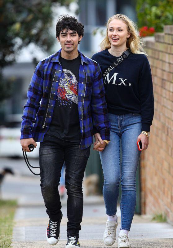 Sophie Turner and Joe Jonas Street Style - Sydney  06/08/2018