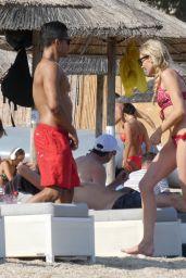 Stephanie Pratt in a Red Bikini in Mykonos 06/20/2018