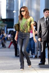 Victoria Beckham Casual Style - Leaving Her Hotel in New York 06/19/2018