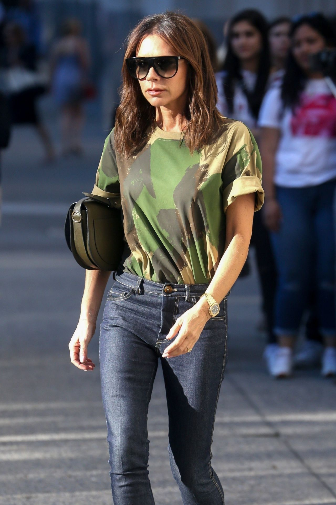 Victoria Beckham Casual Style - Leaving Her Hotel in New ... Victoria Beckham