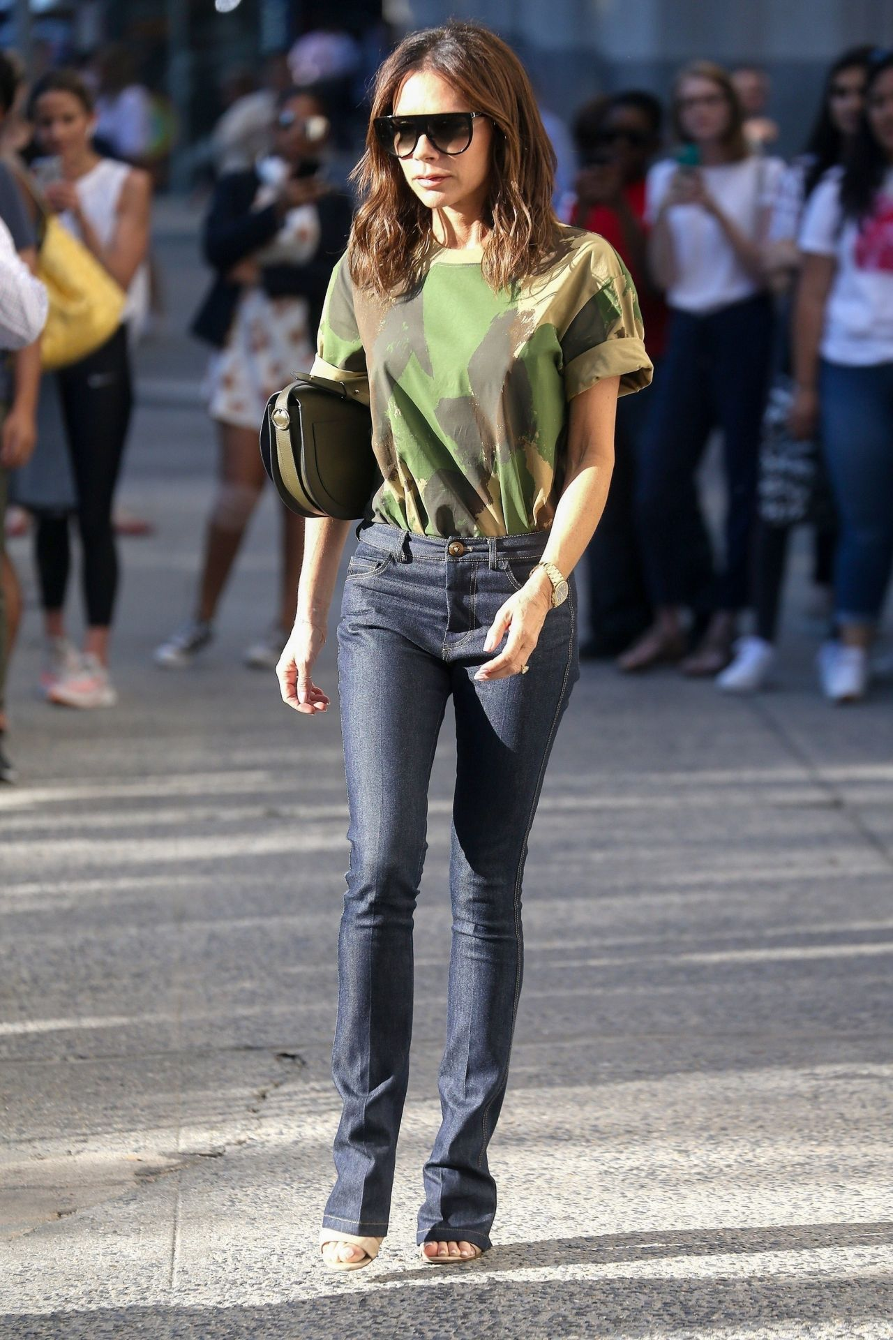 Victoria Beckham Casual Style , Leaving Her Hotel in New