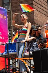 Victoria Justice at the NYC Pride March 06/24/2018