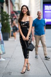 Victoria Justice in a Cinq A Sept Dress - NYC 06/26/2018