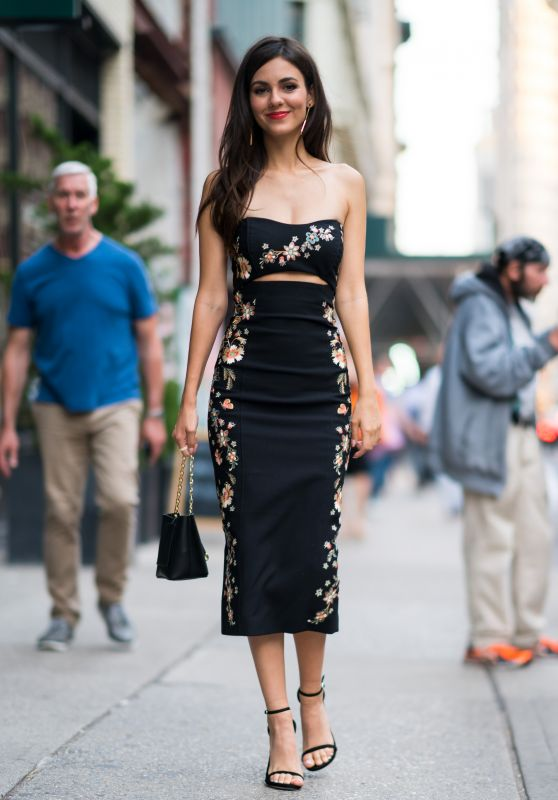 Victoria Justice in a Cinq A Sept Dress - NYC 06/26/2018