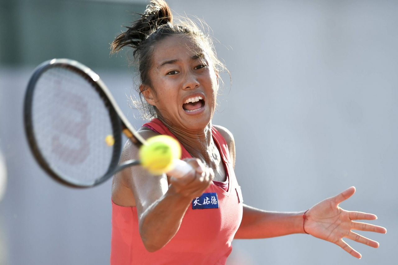 Zhang shuai french open tennis tournament in roland garros paris new foto