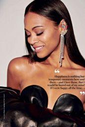 Zoe Saldana - Glamour Magazine South Africa July 2018
