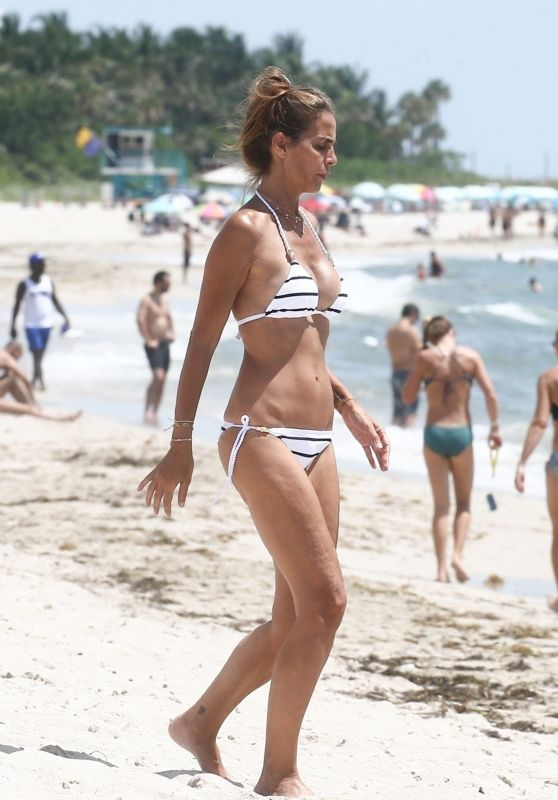 Adriana Fossa in Bikini on the Beach in Miami 07/28/2018