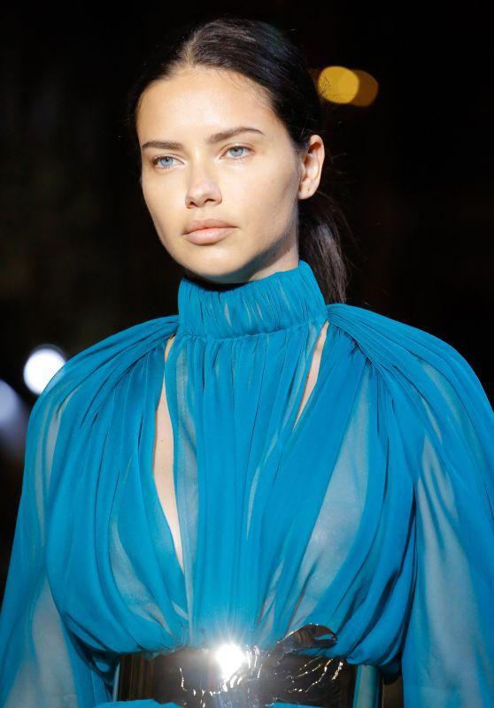 Adriana Lima - Schiaparelli Haute Couture Runway at Paris Fashion Week 07/02/2018