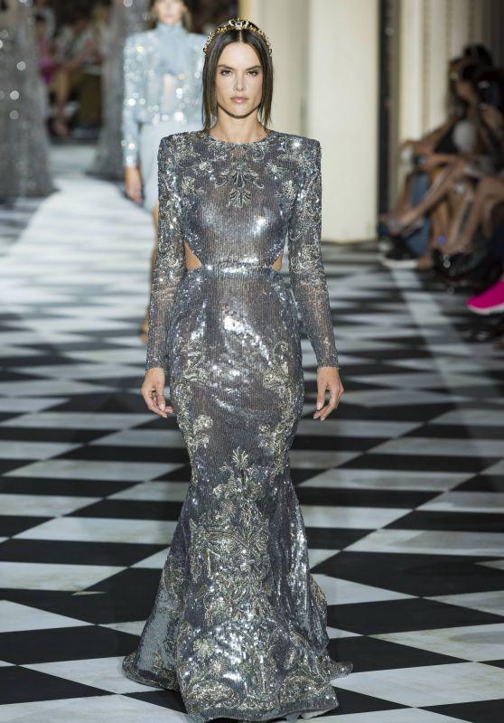 Alessandra Ambrosio Walks Zuhair Murad Couture Fashion Show in Paris 07/04/2018