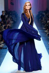 Alexina Graham Walks Jean Paul Gaultier Fashion Show in Paris 07/04/2018