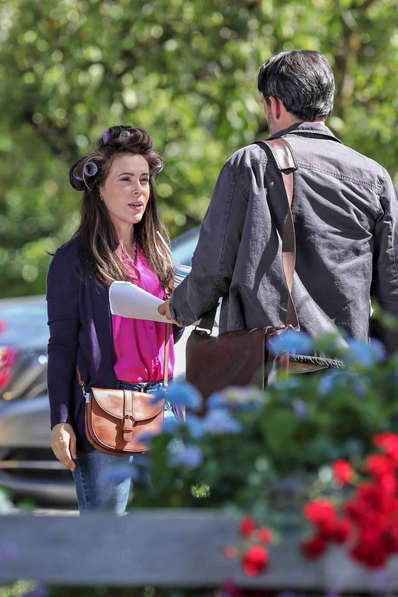 Alyssa Milano Quot Tempting Fate Quot Movie Set In Vancouver 07