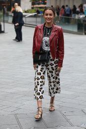 Amber Davies in Printed Trousers - London 07/30/2018