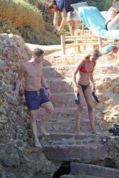 Amelia Windsor in Bikini at the Beach in Ibiza 07/27/2018