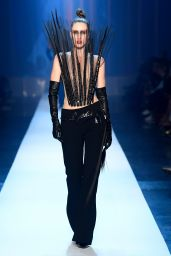 Anna Cleveland Walks Jean Paul Gaultier Fashion Show in Paris 07/04/2018