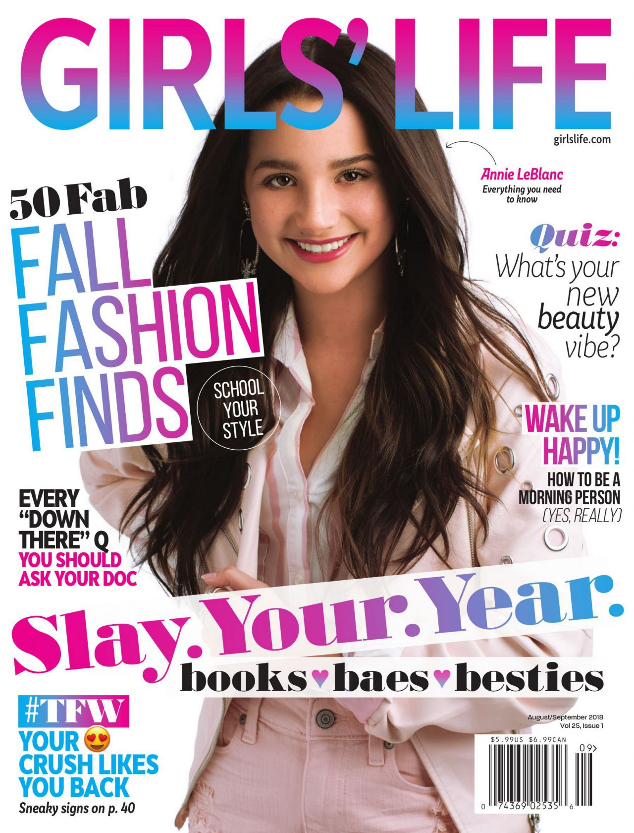 Annie Leblanc Girls Life Magazine August September 2018