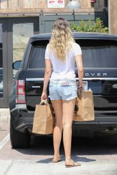 April Love Geary Leggy in Shorts - Grocery Shopping in Malibu 07/30/2018