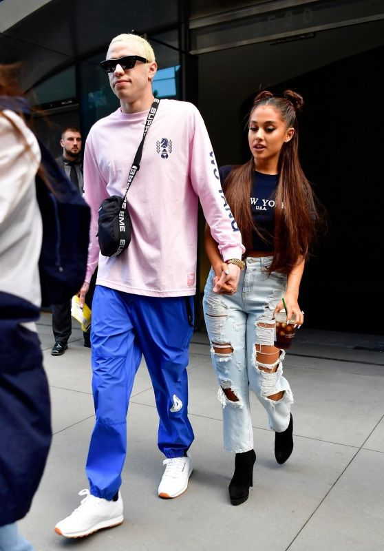 Ariana Grande and Pete Davidson - Heading to Her Concert in New York