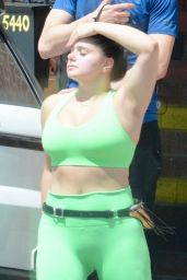 Ariel Winter in Sports Bra Leaving a Gym in Studio City 07/21/2018