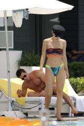 Aurora Ramazzotti in Bikini at The Pool in Miami 07/20/2018