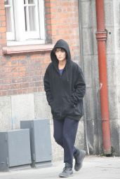 Blake Lively With Dark Hair - Filming in Dublin 07/24/2018