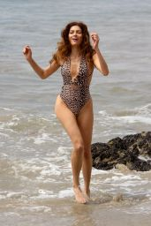 Blanca Blanco in Cheetah Print Swimsuit