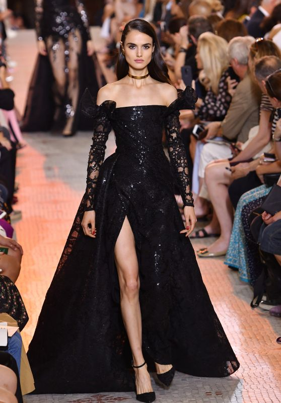 Blanca Padilla Walks Elie Saab Fashion Show Fall Winter 2018 in Paris