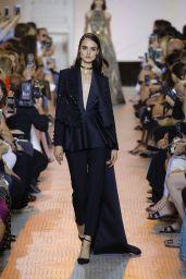 Blanca Padilla Walks Elie Saab Fashion Show Fall Winter 2018 in Paris