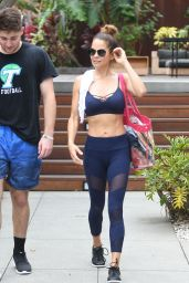 Brooke Burke - Outside Her Booty Burn Class in Malibu, July 2018