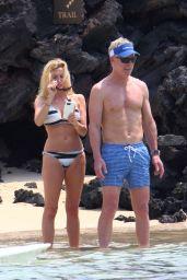 Camille Grammer in Bikini on the Beach in Hawaii 07/04/2018
