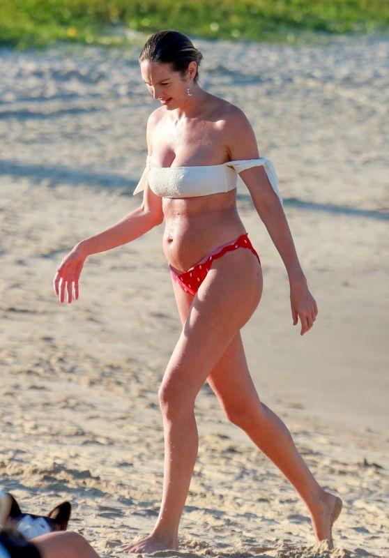 Candice Swanepoel in Bikini on the Beach in Vitoria