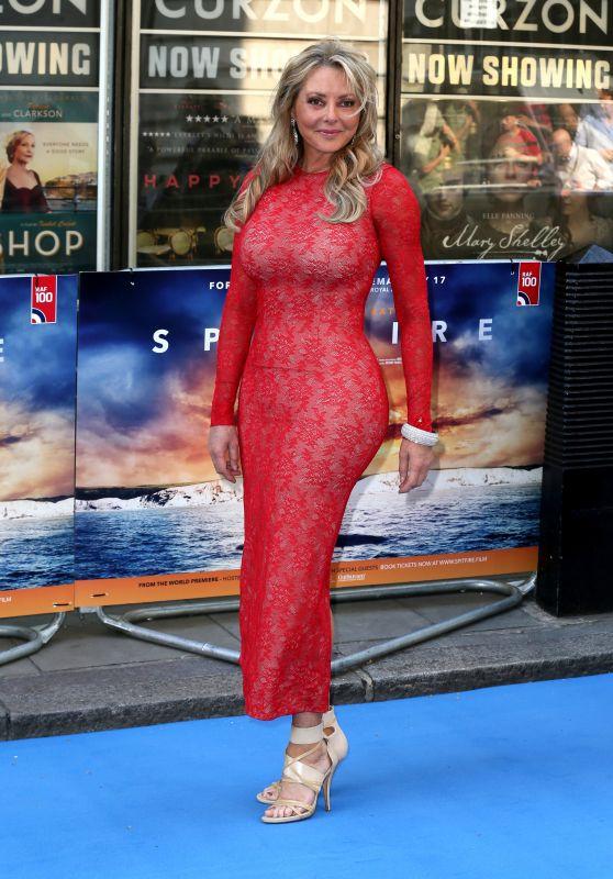 "Carol Vorderman - ""Spitfire"" World Premiere in London"