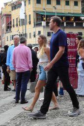 Caroline Wozniacki and David Lee Strolling in Portofino 07/14/2018