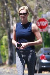 Charlize Theron in Tights - Out in Los Angeles 07/13/2018