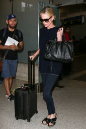 Charlize Theron - LAX Airport in Los Angeles 07/25/2018