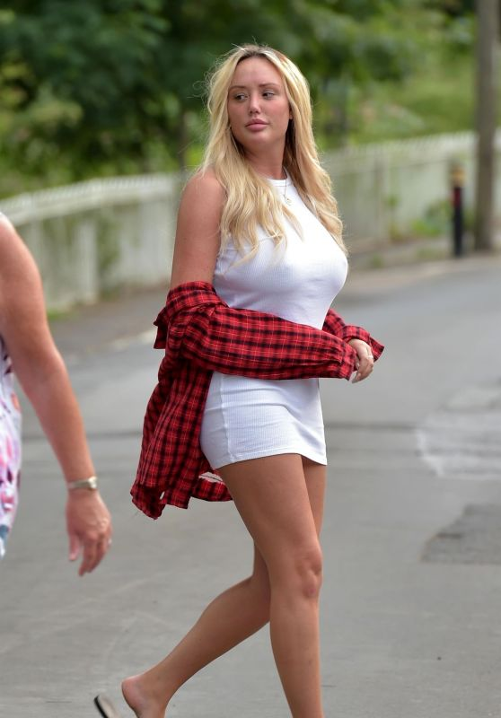Charlotte Crosby at Her Parents House in Newcastle 07/28/2018