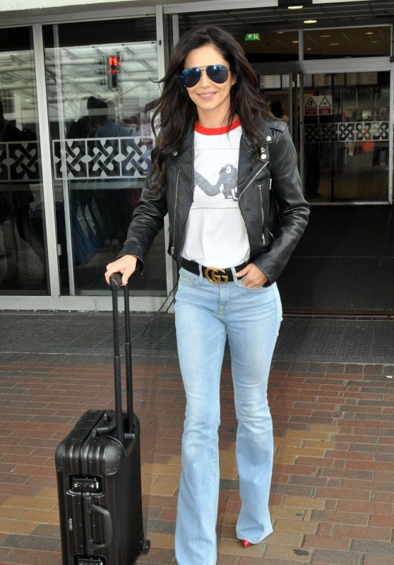 Cheryl Tweedy Urban Style - Arrives at Dublin Airport 07/22/2018