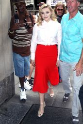 """Chloe Moretz at the """"Today Show"""" in New York City 07/30/2018"""